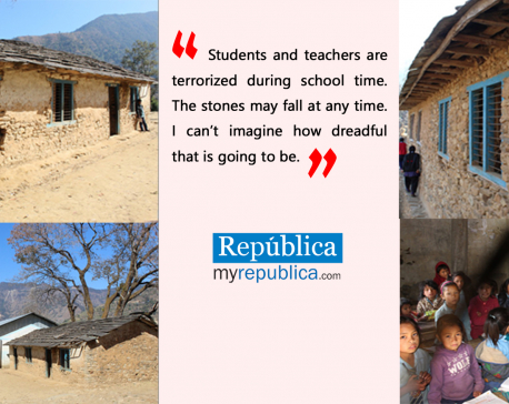 Dilapidated school building poses threat to lives of students in Rolpa