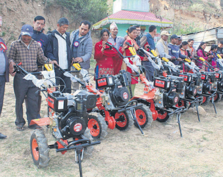 Power tillers make life easier for Gajuri farmers
