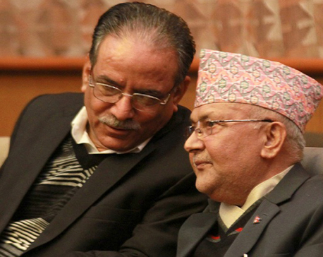 Oli, Dahal discuss party unity, govt formation