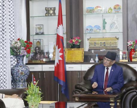 MCC Vice Prez Sumar meets Maoist Center Chairman Dahal