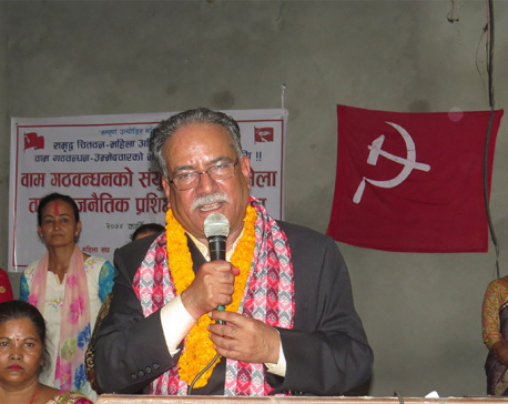 Dahal cautions cadres against attempts to foil unification