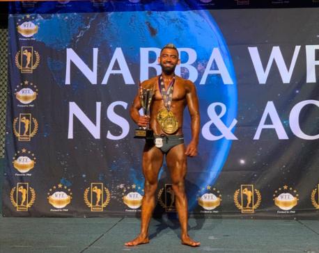 Nepali bodybuilder Bhatta becomes 'Champion of Champions' in Australia