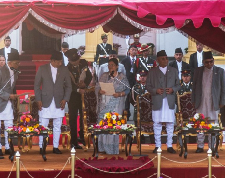 Bhandari sworn in as President for second term by 'ousted-CJ'