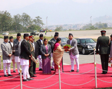 President Bhandari flies off to Sri Lanka via Thailand