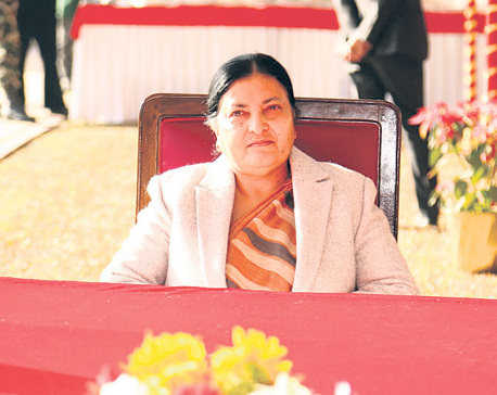 President Bhandari appeals all Nepalis to stay indoor to save lives