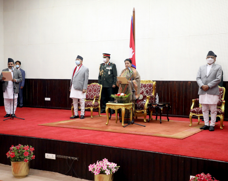 Newly-appointed governor of Province 2 takes oath