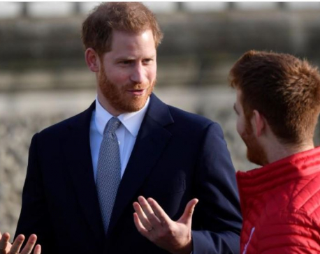 Prince Harry appears in public for first time since royal split