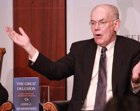 Nepal should stay neutral; have good relations with both India and China for its security, stability: Prof. Mearsheimer