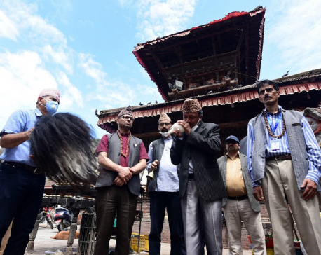 IN PICS: Protestors at Basantapur demanding use of Nepali language on embossed number plates
