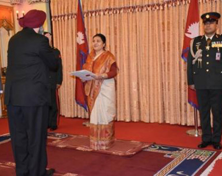 New Indian Ambassador to Nepal presents credentials to President