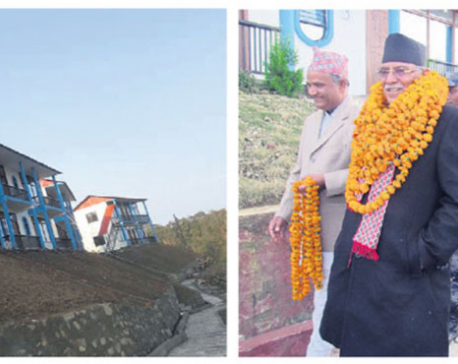 Former prime minister Pushpa Kamal Dahal inaugurates Rs 120-million resort in Sindhuli