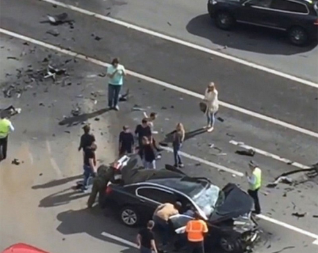 Chauffeur killed as Vladimir Putin's car crashes in Moscow