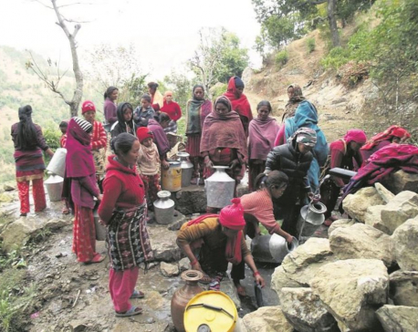 Residents of Pyuthan village forced to spend hours to fetch water