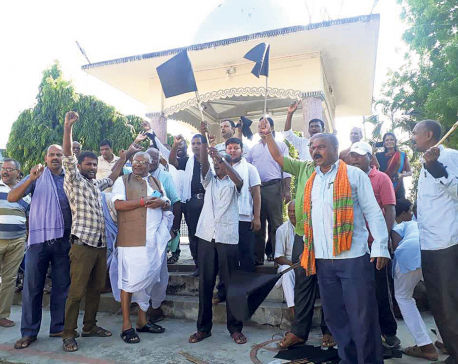 Province 2 Minister Sah leads anti-Constitution march in Saptari