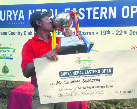 Shiva Ram wins Surya Nepal Eastern Open