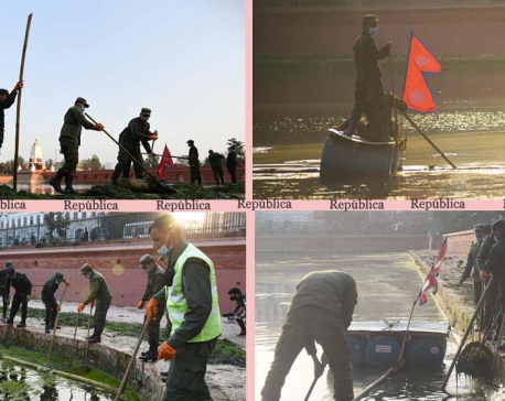 IN PICS: KMC cleans recently-reconstructed historical Rani Pokhari