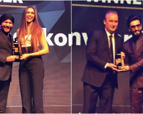 Ranveer, Deepika win International Man and Woman awards