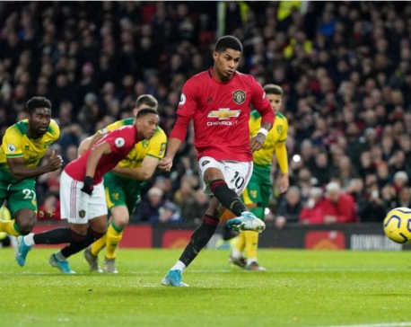 Rashford double helps Man United to 4-0 rout of Norwich