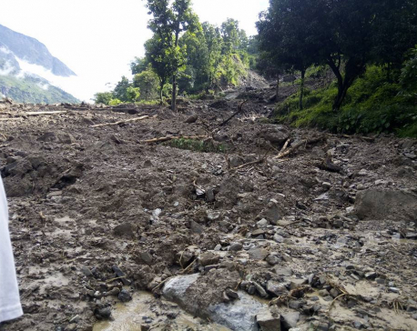 3 die, 1 missing as landslide buries 14 houses in Rasuwa