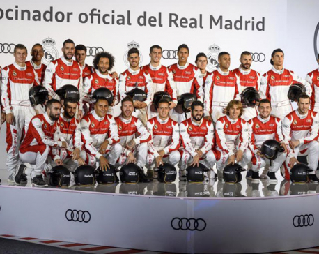 Madrid players take to go-karts, receive cars from sponsor