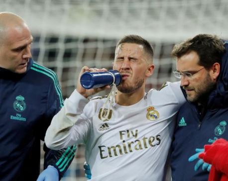 Real Madrid's Hazard ruled out of Super Cup