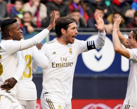Ruthless Real down Osasuna for fifth straight La Liga win