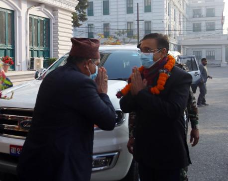 Minister Rayamajhi assumes office