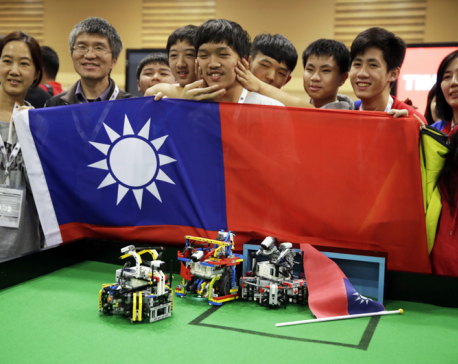 Taiwanese teenagers win World Robot Olympiad in India