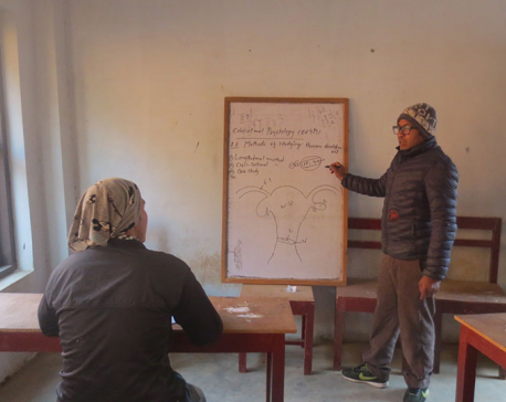 Five teachers for one student in Rolpa campus