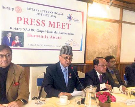 Applications open for Rotary SAARC Gopal-Kamala Rajbhandari Humanity Award