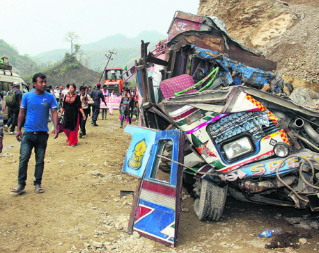 Two killed as landslide buries vehicles