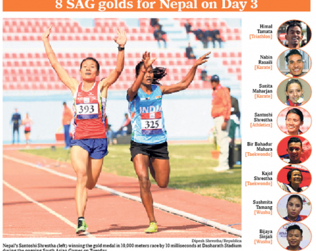 Shrestha wins 10,000 meters gold by10 milliseconds