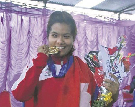 Chaudhary claims gold in women's weightlifting