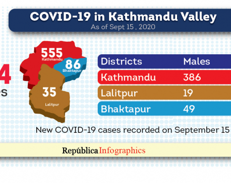 Kathmandu Valley's COVID-19 tally surges to 12,924 with 676 new cases in the past 24 hours