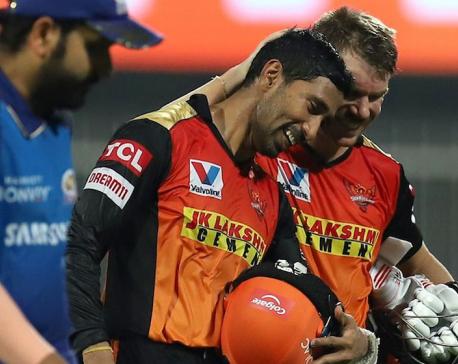 SRH in IPL 2020 playoffs beating MI by ten wickets
