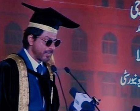 SRK receives doctorate degree for promoting Urdu