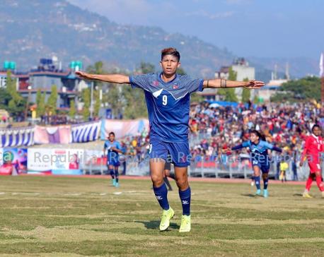 Sabitra Bhandari makes recordscoring 37 international goals