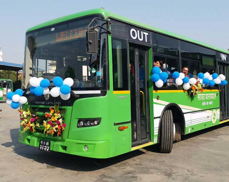 Sajha launches semi floor public buses
