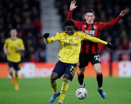 Teenager Saka helps Arsenal into FA Cup fifth round