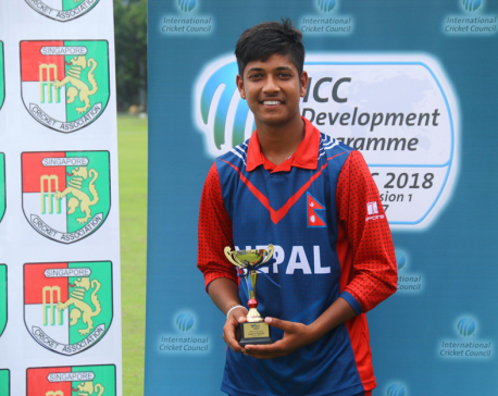 Nepal register second win, Lamichhane takes five
