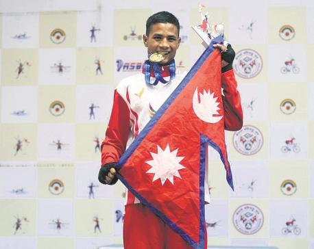 Shahi bags Nepal's third boxing gold