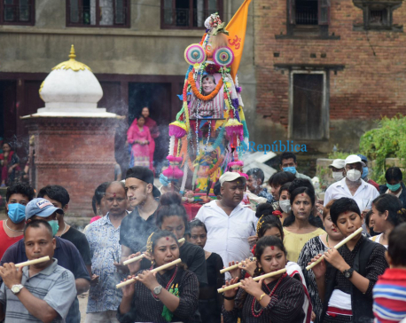 In pics: People celebrate Gaijatra in Sankhu
