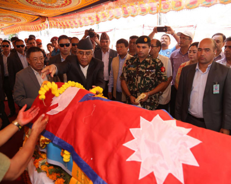 PM, Home Minister pay final tributes to late Gauchan