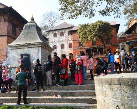 Nepalis pray for health and wisdom as coronavirus curtails crowds at festival