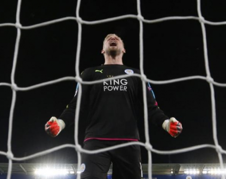 Like father like son, Schmeichel saves day for Leicester