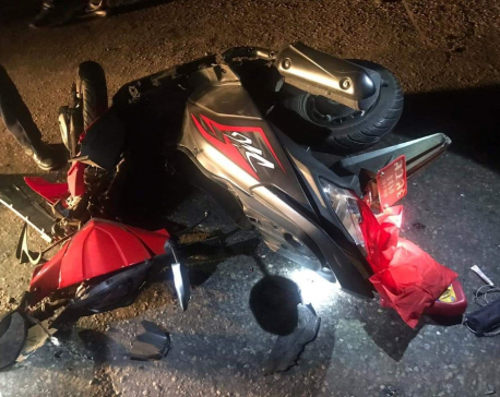 Scooter rider dies after being hit by Indian truck