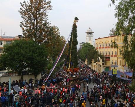 Seto Machhendranath chariot procession begins