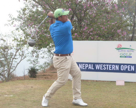 Shrestha takes four-stroke lead in Western Open golf