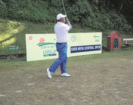 Shiva Ram takes lead after second day