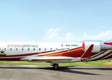 Shree Airlines plane slips off TIA runway